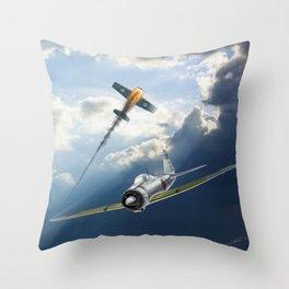 Reisen (Zero Fighter) flown by sub-Lt. Saburo Sakai Throw Pillow