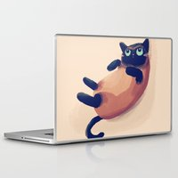 nan lawson Laptop & iPad Skins featuring Blue Eyes by Nan Lawson
