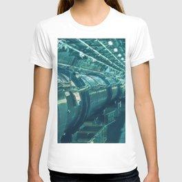 Switzerland Cern Large Hadron Collider Artistic Illustration Under Water Style T-shirt