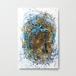 the woman's face #3 Metal Print