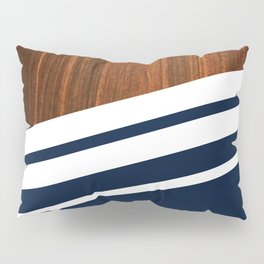 Wooden Navy Pillow Sham