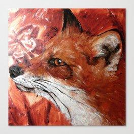 Fox Work in Progress Canvas Print
