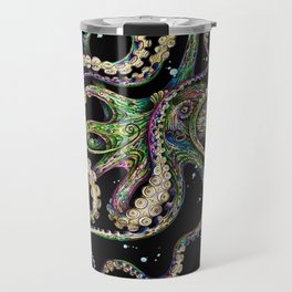 Octopsychedelia (black) Travel Mug