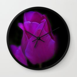 blossoms on black background -01- Wall Clock