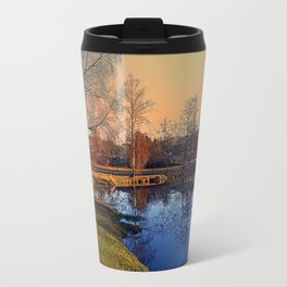 Winter mood on the river IV | waterscape photography Travel Mug