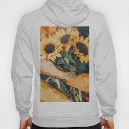 Holding Sunflowers #society6 #illustration #nature #painting Hoody