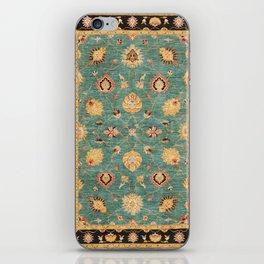 Oushak  Antique Gold Teal Turkish Rug Print iPhone Skin