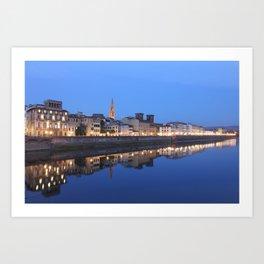 Florence's Reflection Art Print