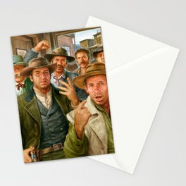 Group of cowboys at the bar Stationery Cards