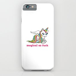 Magical as fuck iPhone Case