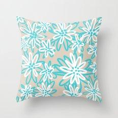 Sandy Floral Throw Pillow