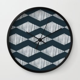Acoustic Wave Navy Wall Clock