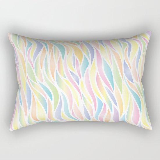 Pastel waves Rectangular Pillow
