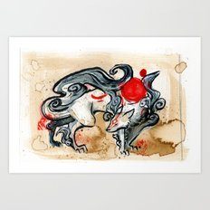 OKAMI Art Print