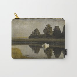 Boat at Dusk with Olive Gold and Gray Carry-All Pouch