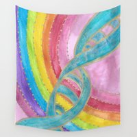 dna Wall Tapestries featuring DNA Activated  by ChristiaSoulArt