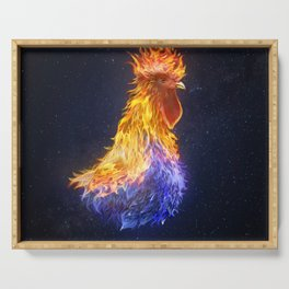 Fire Rooster Serving Tray