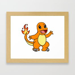 Baby Fire Character Framed Art Print