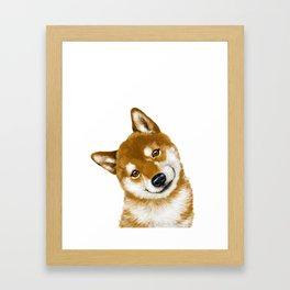 Smile Shiba Inu Framed Art Print