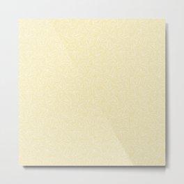 Apple Leaves_Background Beige Metal Print