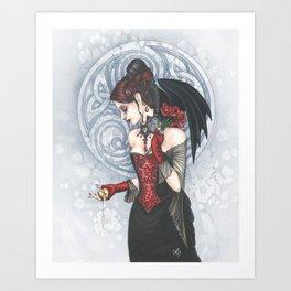 Satori Noir Art Print