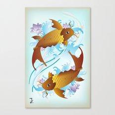 Twin Koi Canvas Print