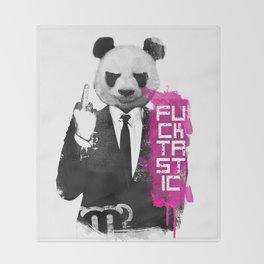 Angry Panda Throw Blanket