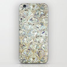 Pale Bright Mint and Sage Art Deco Marbling iPhone & iPod Skin