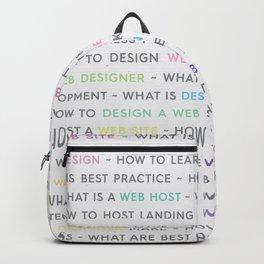 Colored Web Design Keywords Poster Backpack