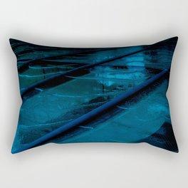 Blue Glass Waterfall Rectangular Pillow