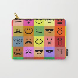 Square Emoji Faces Carry-All Pouch
