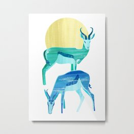 Antilopes in the sun Metal Print