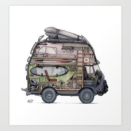 Dream Van - interior view Art Print