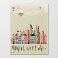 england Canvas Prints featuring visit london england by bri.buckley