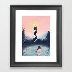 Lighthouse Girl Framed Art Print