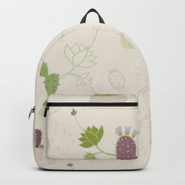 My Potted Cactus Pattern Backpack