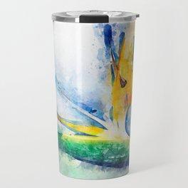 Bird Of Paradise Watercolor Art Travel Mug