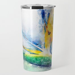 Bird Of Paradise Watercolor Art Travel Mug