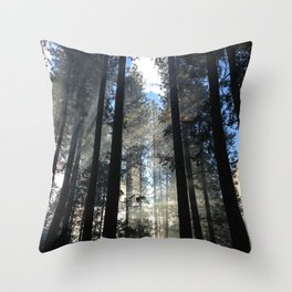 Sunlight Shines Through the Trees Throw Pillow