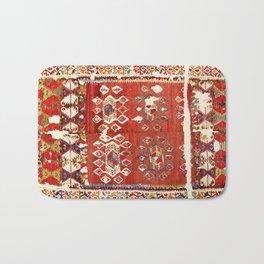 Hotamis  Antique Turkish Karapinar  Kilim Print Bath Mat