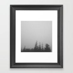 Dense Fog Framed Art Print