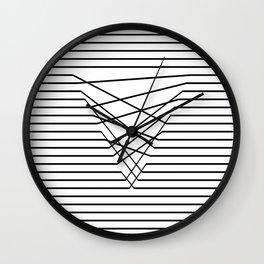 Line Complex Light Triangle Wall Clock