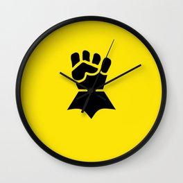 Warhammer 40k Imperial Fists Minimalist Print Wall Clock