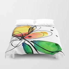 Ecstasy Bloom No.8 by Kathy Morton Stanion Duvet Cover
