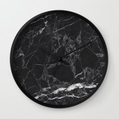 Black Marble Wall Clock