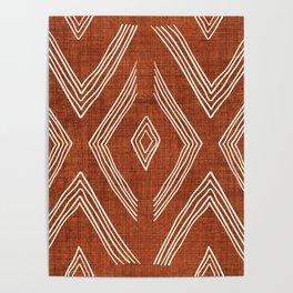 Birch in Rust Poster