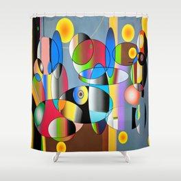 70's Flashback Shower Curtain