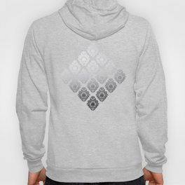 """Neutral gray Damask Pattern"" Hoody"