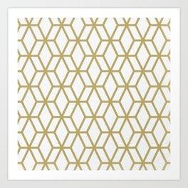 MCM Gold Geometric Art Print