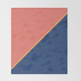 Pink & Rare Purple - 2 color oblique Throw Blanket